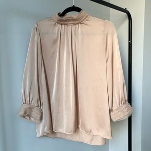 ZARA | satin blouse